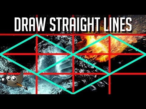 How To Draw Straight Lines In GIMP | Tutorial For Beginners
