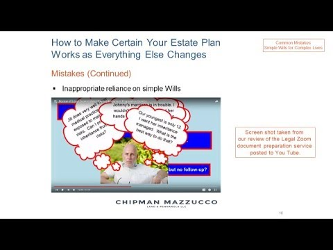 How to Make Certain Your Estate Plan Works as Everything Else Changes Seminar 2017