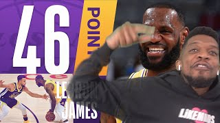 46 POINTS - SEASON HIGH LOGO LEBRON IN THE BUILDING!! ALL JUMPERS NO LAYUPS - NO SCREENS CURRY FANS