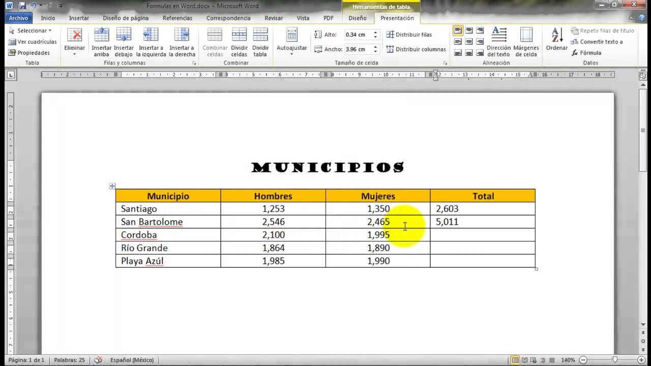 how to add formula in word
