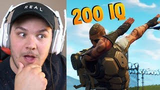 Insane 200 IQ Fortnite Plays - Reaction