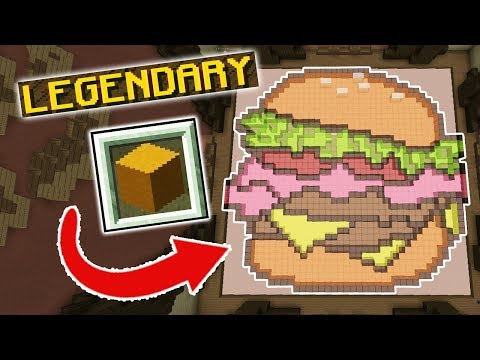 ONLY GLASS PIXEL ART CHALLENGE (Minecraft Build Battle)