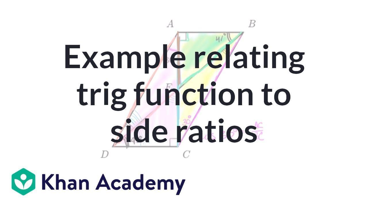 Trig challenge problem: trig values & side ratios (video)   Khan Academy