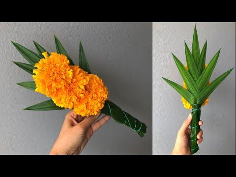 ดอกไม้ไหว้พระ แบบง่ายที่สุด 🌹🌹  MeeDee DIY