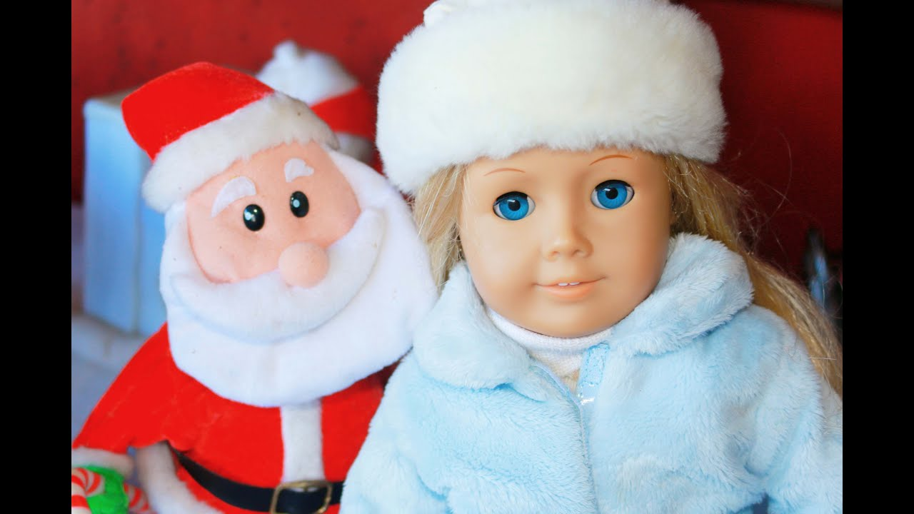 How to make christmas decorations for your ag doll - Christmas Decorations American Girl Doll Baby Alive Doll With Santa Christmas Trains Holidays Toys