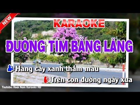 Karaoke Đường Tím Bằng Lăng ( Song Ca ) duong tim bang lang karaoke nhac song