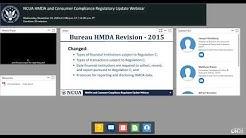 NCUA HMDA and Consumer Compliance Regulatory Update Webinar (11/14/2018)