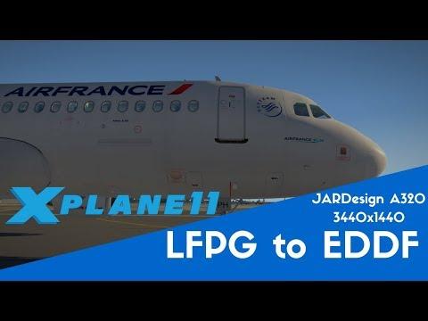 Charles de Gaulle to Frankfurt - JARDesign A320 (X-Plane 11)