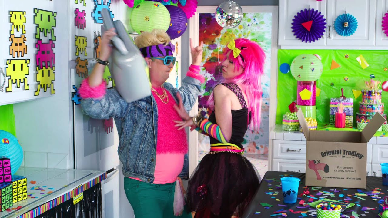 Awesome 80s party youtube for Decoration 80 s