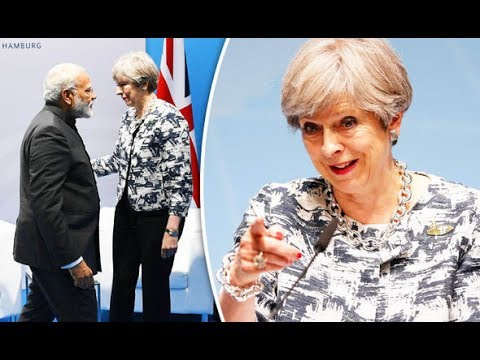 India wants more UK trade BEFORE Brexit as world leaders queue up for Theresa May
