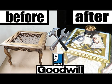DIY THRIFT STORE FURNITURE MAKEOVER!