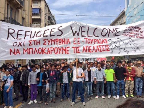 LIVE: Pro-refugee rally hits Athens as demonstrators decry EU-Turkey refugee deal