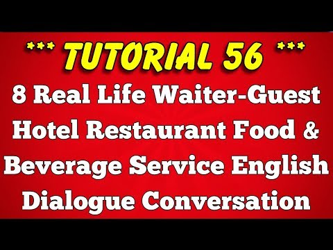 Waiter & Guest English Conversation or Dialogue at Hotel