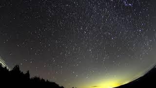 オリオン座流星群 2018年10月20日 東天