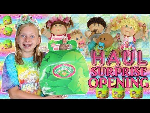 HUGE Cabbage Patch Kids SURPRISE Opening With Original Vintage Dolls