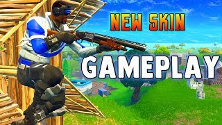 BLUE STRIKER SKIN PC GAMEPLAY- Fortnite Battle Royale New Free PS Plus Skin on PC