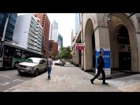 Walking from Kings park to Perth city centre