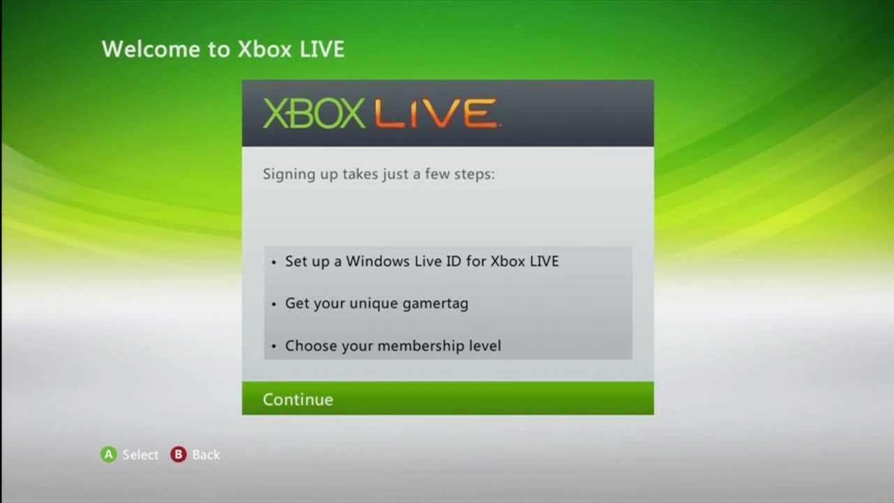 How to Join XBOX Live [XBOX 360 V2] - YouTube