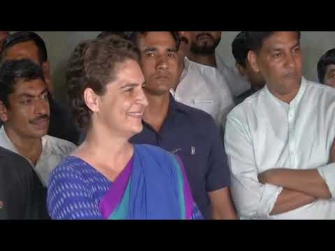 Priyanka Gandhi Vadra with Media in Amethi, UP