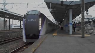 特急あずさ30号・千葉へ向け松本駅を出発
