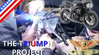 Custom Triumph Project - Speed Triple Cafe Racer - ep23 P1 - The sheet metal work - Roma Custom Bike