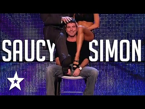 Surprise Lap Dance For Simon Cowell On Got Talent | Got Talent Global