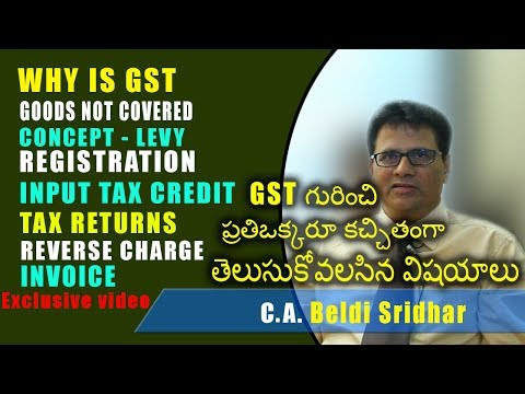 what is gst in telugu | clear explanation about GST |Exclusive | sridhar | News cabin