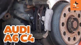 Cambiar Pastilla de freno delanteras y traseras AUDI A6 (4A, C4) - instrucciones en video
