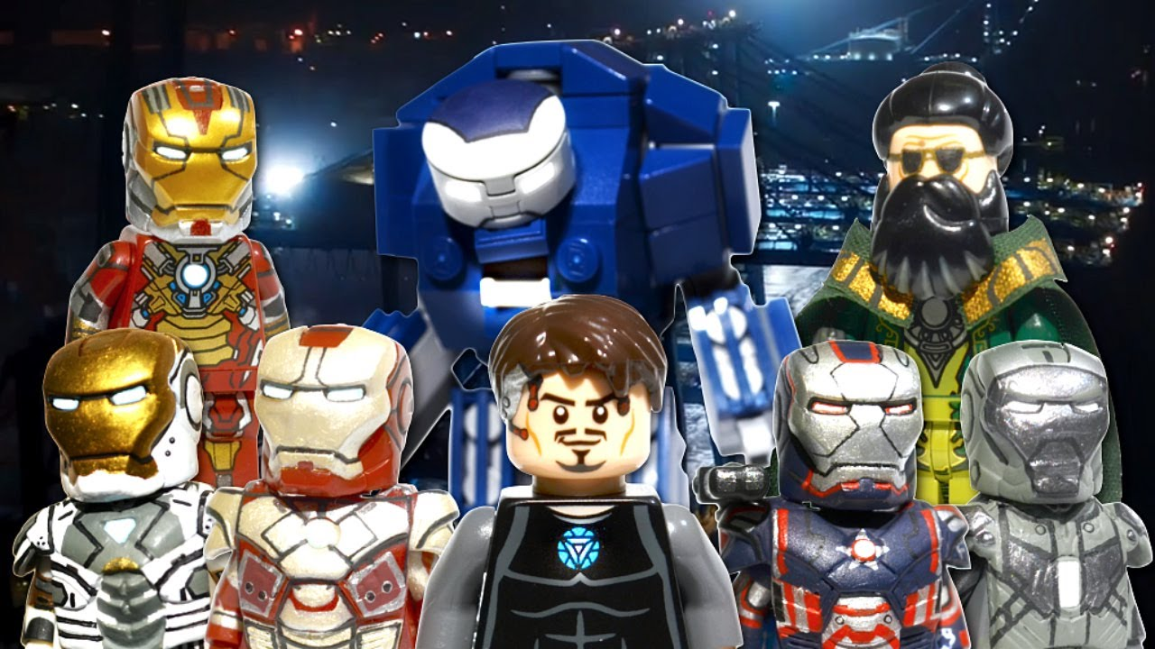 Lego marvel iron man 3 minifigures showcase youtube - Lego iron man 3 ...