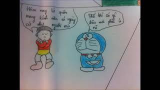 Vẽ truyện doremon như thật