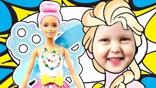 Развлечение для детей кукла Барби Дримтопия Мыльные пузыри Entertainment for children Barbie