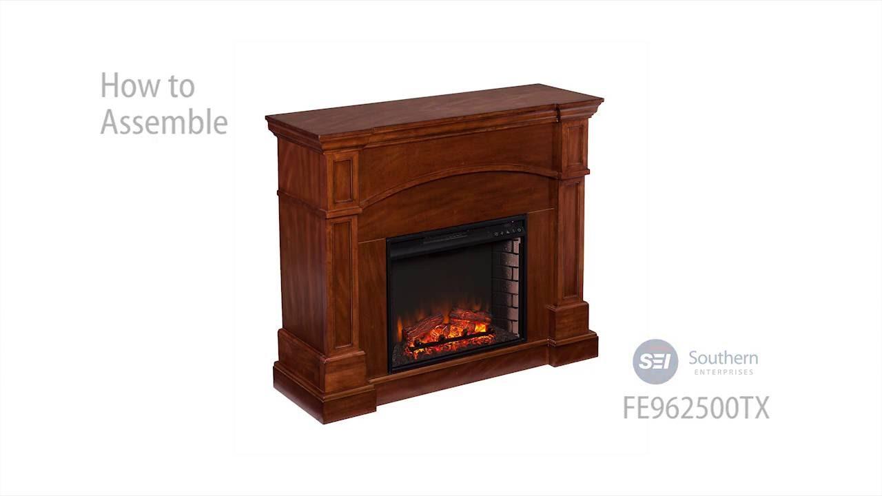 Fe9625 Lantana Corner Convertible Electric Fireplace Oak Saddle