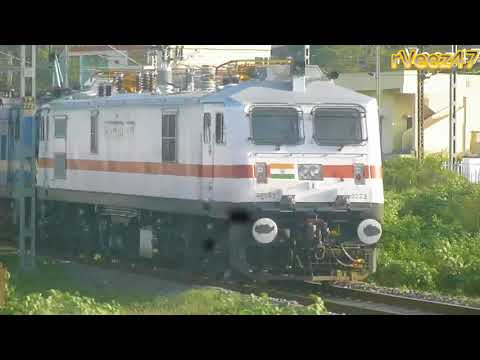 Vijaywada Jn 9Mins Entering Vijaywada From Nagpur | Raptisagar SF Express