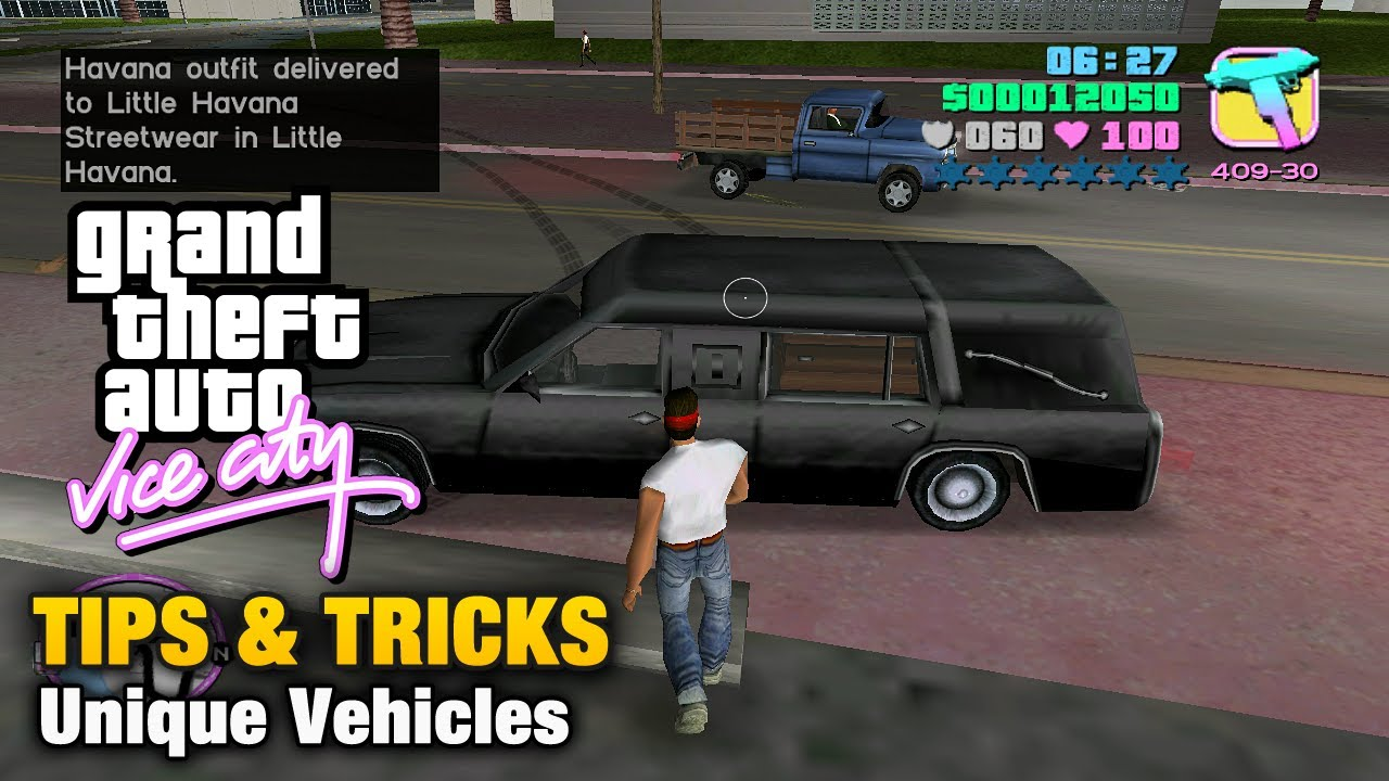Gta Vice City Tips Tricks Unique Vehicles Youtube