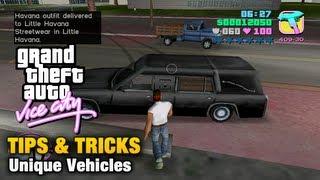 GTA Vice City - Tips & Tricks - Unique Vehicles thumbnail