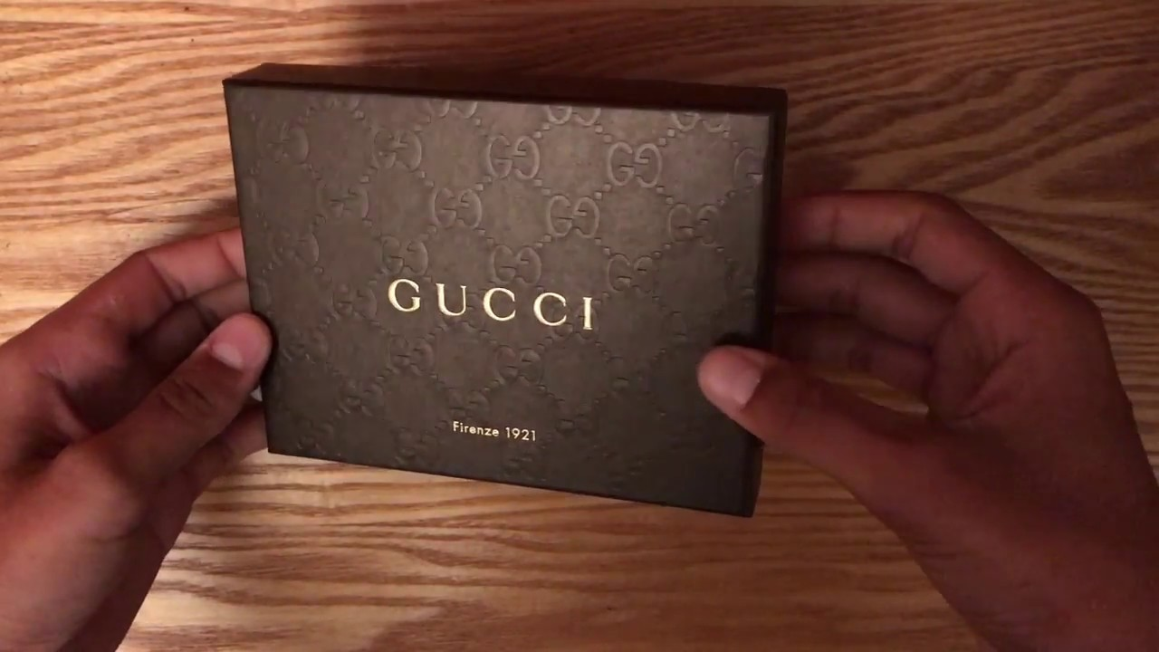 8735b52cbff3 gucci wallet unboxing and review - YouTube