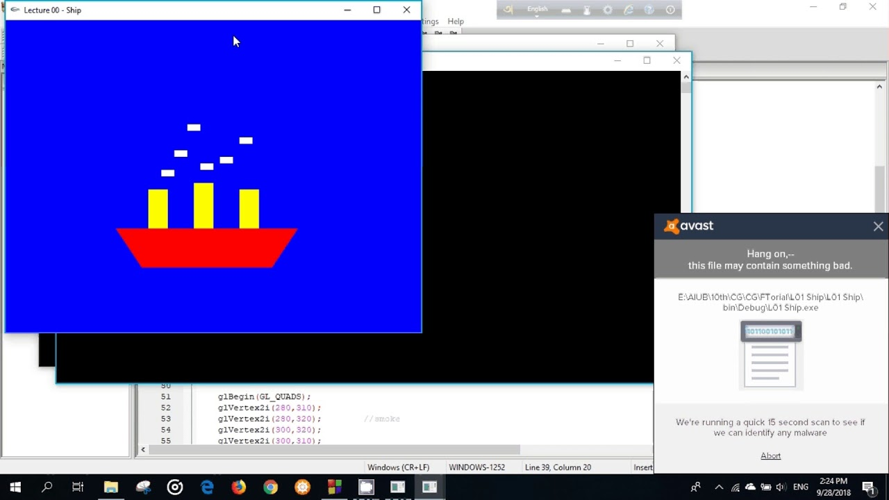 Draw a Ship and Change Color | GL QUADS | OpenGL | Lecture 04 | Computer  Graphics Bangla Tutorial