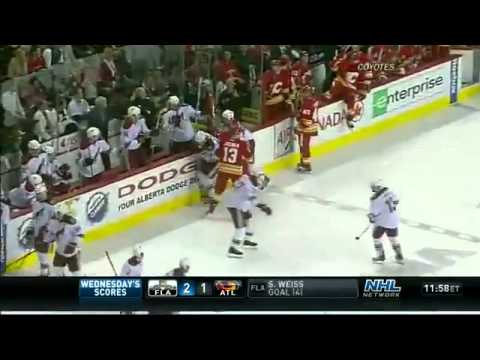 NHL  Olli Jokinen Cross Check on Woitek Wolski Suspended 3 Games2