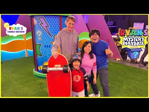 Tony Hawk is Ryan's Mystery Playdate!! NEW On Nickelodeon Every Friday!!!