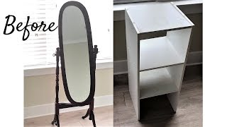 CRUSHED GLASS MIRROR HOME DECOR IDEAS 2019