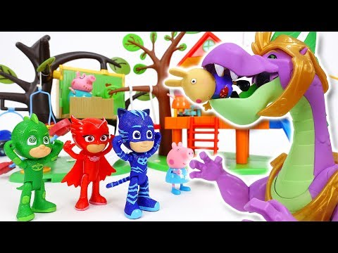 Thumbnail: Pink Dragon in The Peppa Pig Playground~! Go PJ Masks