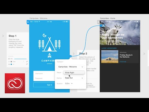 How To Create Prototypes (wires) In Adobe XD (Preview)  | Adobe Creative Cloud