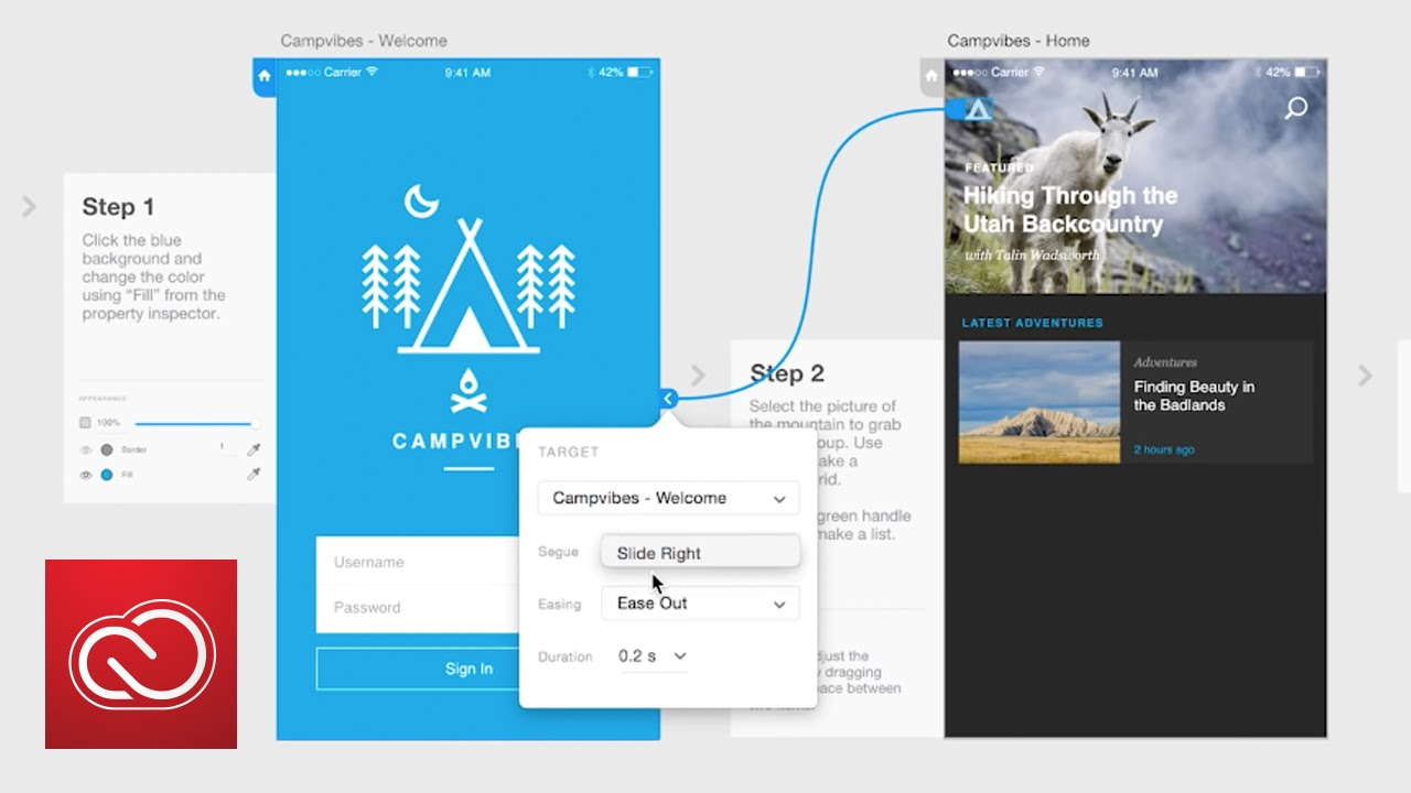 How to Create Prototypes (wires) in Adobe XD (Preview) | Adobe ...