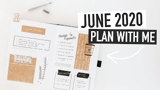 Bullet Journal JUNE PLAN WITH ME 2020 | Self Care & Work Spreads