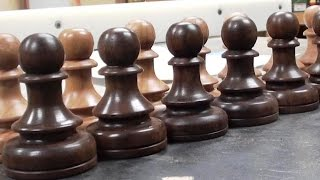 Woodturning a Chess Set Pawn in 3 Minutes