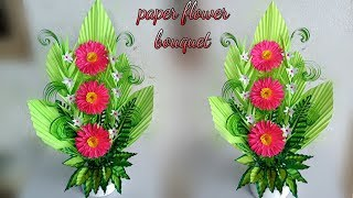 handmade florales flower bouquet / handmade paper flower bouquet 2019 / arrangement flower bouquet
