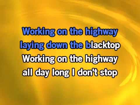 Bruce Springsteen Working On The Highway Karaoke