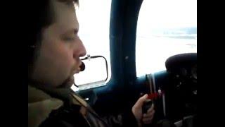 "Заход в Гостилицах на PA-38 ""Tomahavk"""