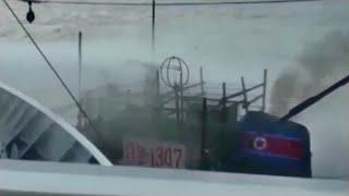【ノーカット】水産庁が北朝鮮漁船衝突時の映像公開