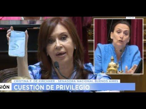 La explosiva primera intervención de Cristina en el Senado